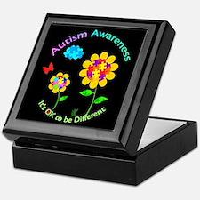 Autism Awareness Sunflower Keepsake Box
