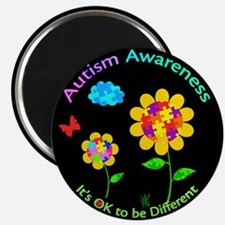 Autism Awareness Sunflower Magnet