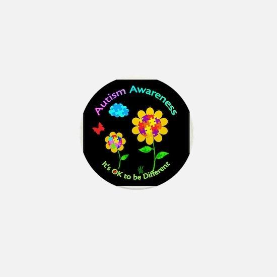 Autism Awareness Sunflower Mini Button