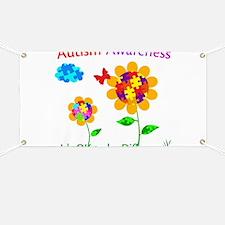Autism Awareness Sunflower Banner