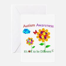 Autism Awareness Sunflower Greeting Card