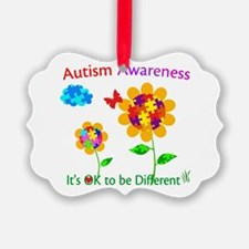 Autism Awareness Sunflower Ornament