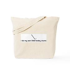 Field Hockey stunts Tote Bag