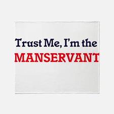 Trust me, I'm the Manservant Throw Blanket