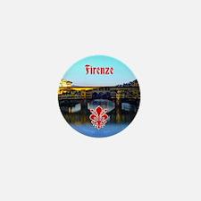 Ponte Vecchio - Florence, Italy Mini Button