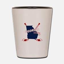 Georgia Hockey Shot Glass