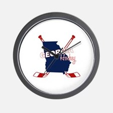 Georgia Hockey Wall Clock