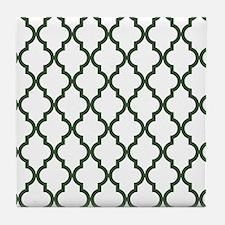 Moroccan Quatrefoil Pattern: Pine Gre Tile Coaster