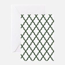 Green, Pine: Quatrefoil Moroccan Pat Greeting Card