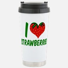 Strawberry Love Stainless Steel Travel Mug