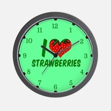 Strawberry Love Wall Clock