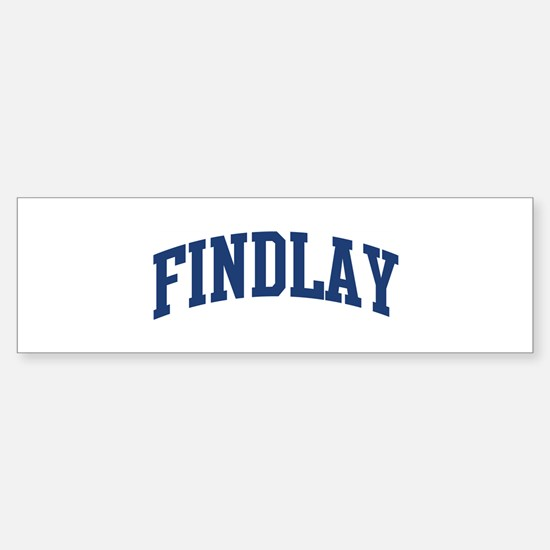 FINDLAY design (blue) Bumper Bumper Bumper Sticker