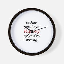 love history or Wall Clock