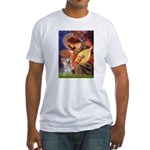 Angel 3 - Yorkshire Terrier Fitted T-Shirt