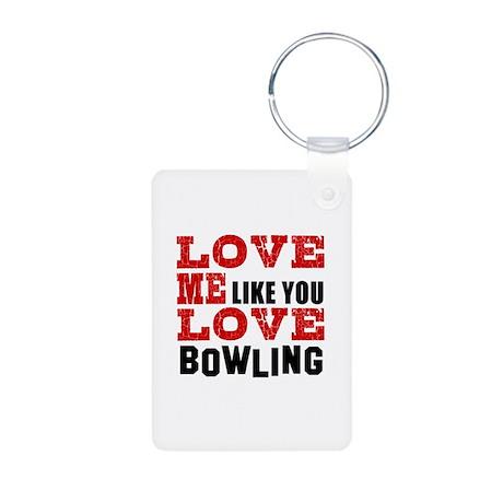 Love Me Like You Love Bowl Aluminum Photo Keychain