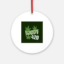 Happy 420 Round Ornament