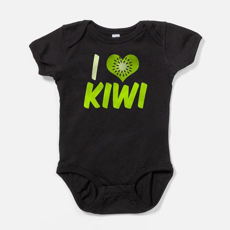 I Heart Kiwi Baby Bodysuit