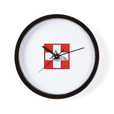 flag&mountain Wall Clock