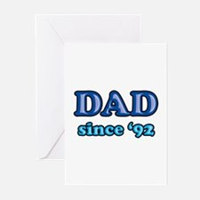 Dad Since 1992 Father's Day Greeting Cards (Pk of