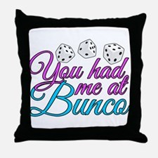 Cute Bunco Throw Pillow