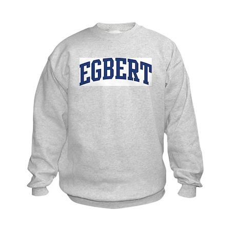 EGBERT design (blue) Kids Sweatshirt