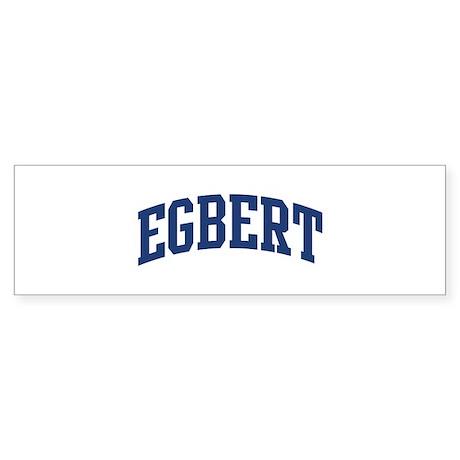 EGBERT design (blue) Bumper Sticker