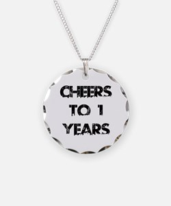 Cheers To 01 Years Designs Necklace Circle Charm