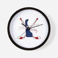 Delaware Hockey Wall Clock