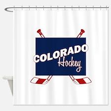 Colorado Hockey Shower Curtain
