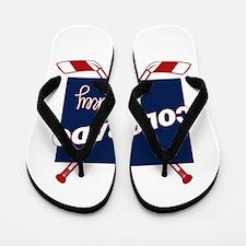 Colorado Hockey Flip Flops