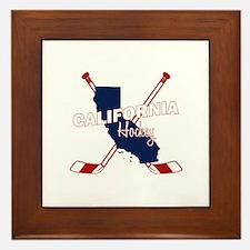 California Hockey Framed Tile