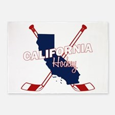 California Hockey 5'x7'Area Rug