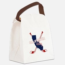 California Hockey Canvas Lunch Bag