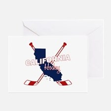 California Hockey Greeting Card