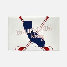 California Hockey Rectangle Magnet