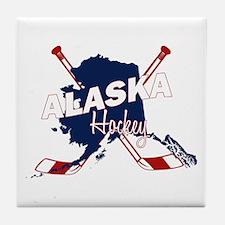 Alaska Hockey Tile Coaster