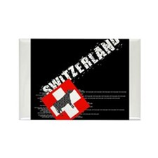Swiss cow Rectangle Magnet (100 pack)
