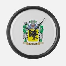 Luciano Coat of Arms - Family Cre Large Wall Clock