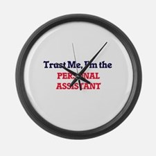 Trust me, I'm the Personal Assist Large Wall Clock