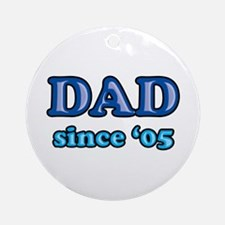 Dad Since 2005 Father's Day Ornament (Round)