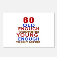 60 Old Enough Young Enoug Postcards (Package of 8)