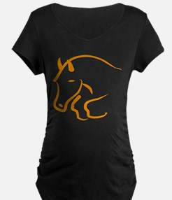 jumping horse Maternity T-Shirt