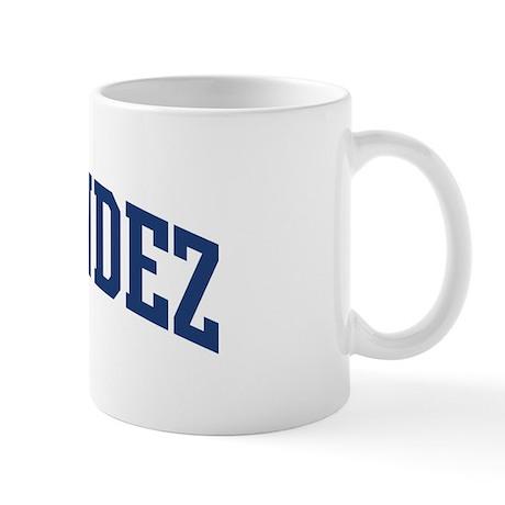 fernandez design blue mug by surnamealot