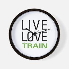 Live Love Train Wall Clock
