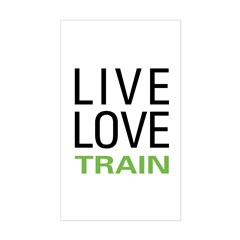Live Love Train Rectangle Decal