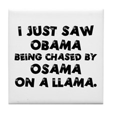 Anti-Obama & Osama Tile Coaster