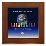 Save the Pit Bull Framed Tile