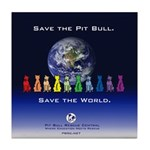 Save the Pit Bull Tile Coaster