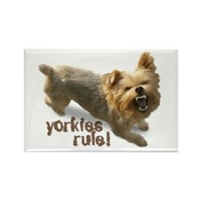 """yorkies rule"" Rectangle Magnet"