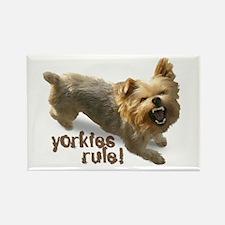 """yorkies rule"" Rectangle Magnet"